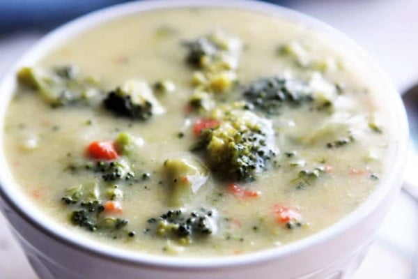 Vegan Gluten Free Cream of Broccoli Soup! #soup #dinner #creamsoup #food #recipe