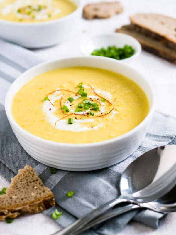 Curried Cream of Corn Soup #soup #dinner #creamsoup #food #recipe