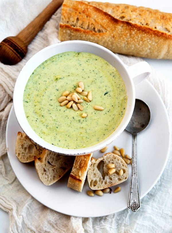Cream of Zucchini Soup #soup #dinner #creamsoup #food #recipe