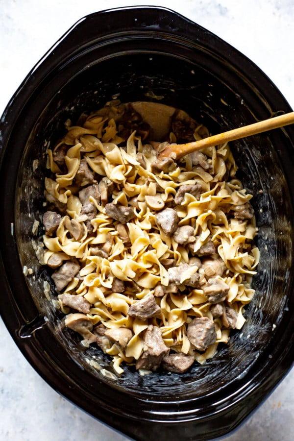 Crock Pot Beef Stroganoff #crockpot #dinner #beef