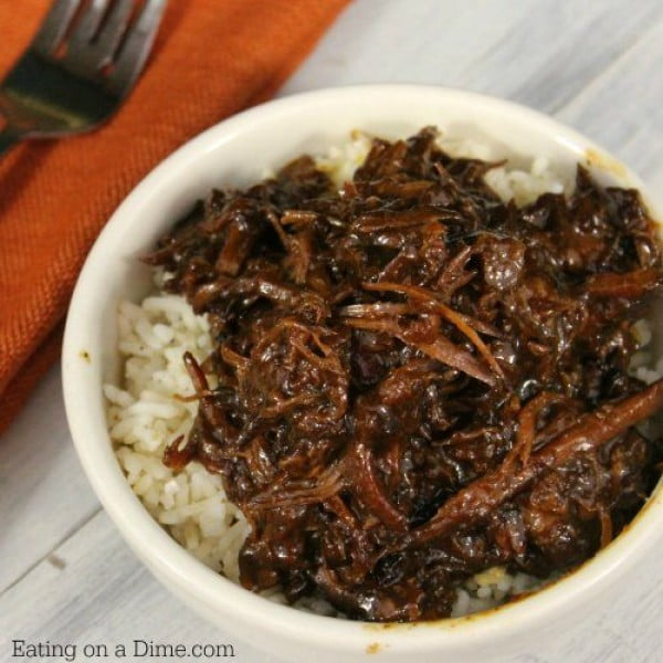 Crock pot Korean BBQ Recipe #crockpot #dinner #beef