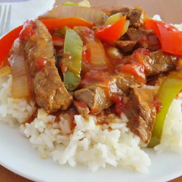 Crock Pot Pepper Steak #crockpot #dinner #beef