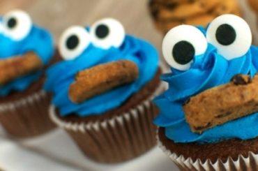 Cookie Monster Cupcakes #cupcakes #dessert #snack #food #recipe