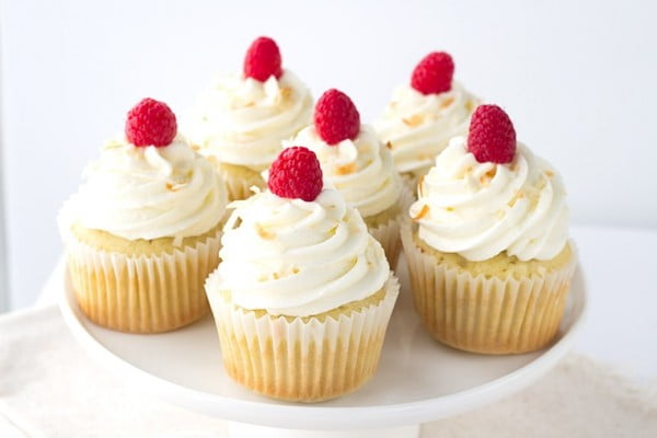 Coconut Cupcakes with Raspberry Filling #cupcakes #dessert #snack #food #recipe