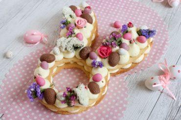 Easter Bunny Cream Tart #easter #dessert #food #recipe