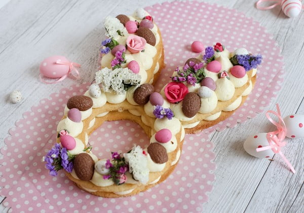 Easter Bunny Cream Tart #easter #dessert #food #recipe