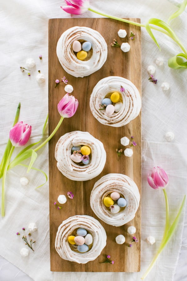 Easter Meringue Nests #easter #dessert #food #recipe