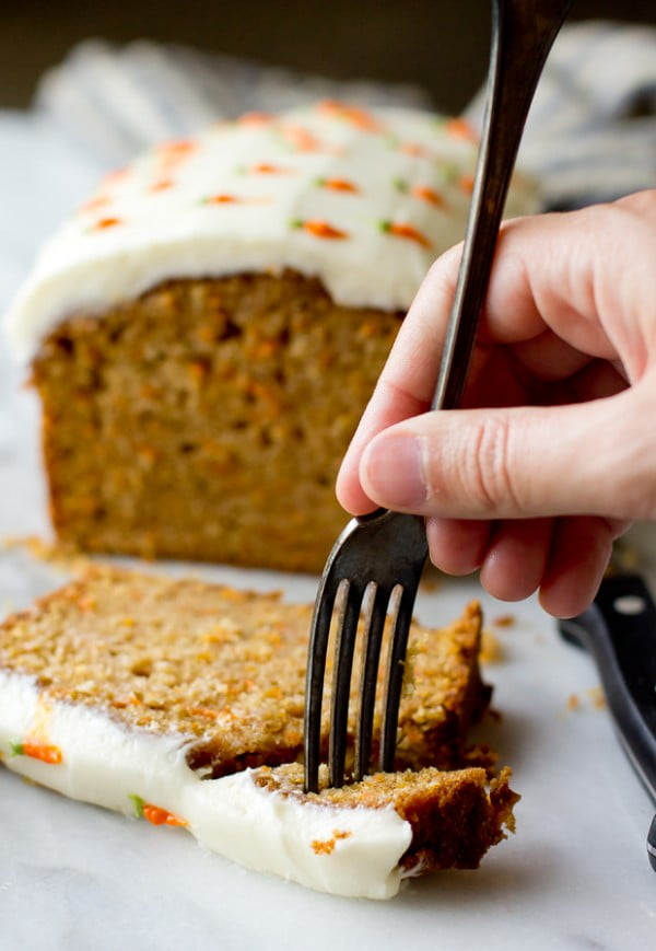 Carrot Cake Loaf #easter #dessert #food #recipe