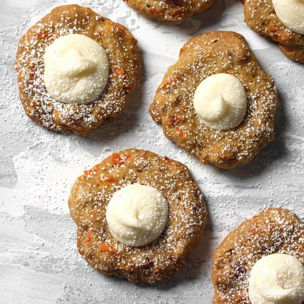 Carrot Spice Thumbprint Cookies #easter #dessert #food #recipe