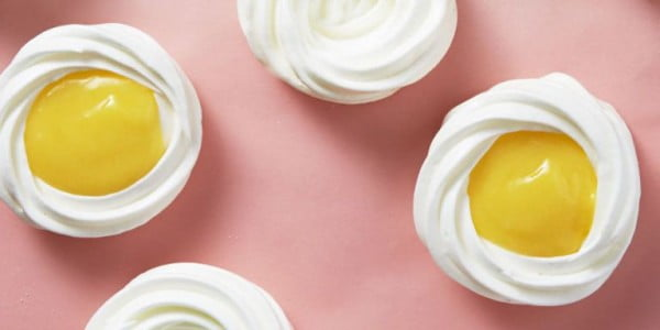 Sunny-Side-Up Meringues #easter #dessert #food #recipe
