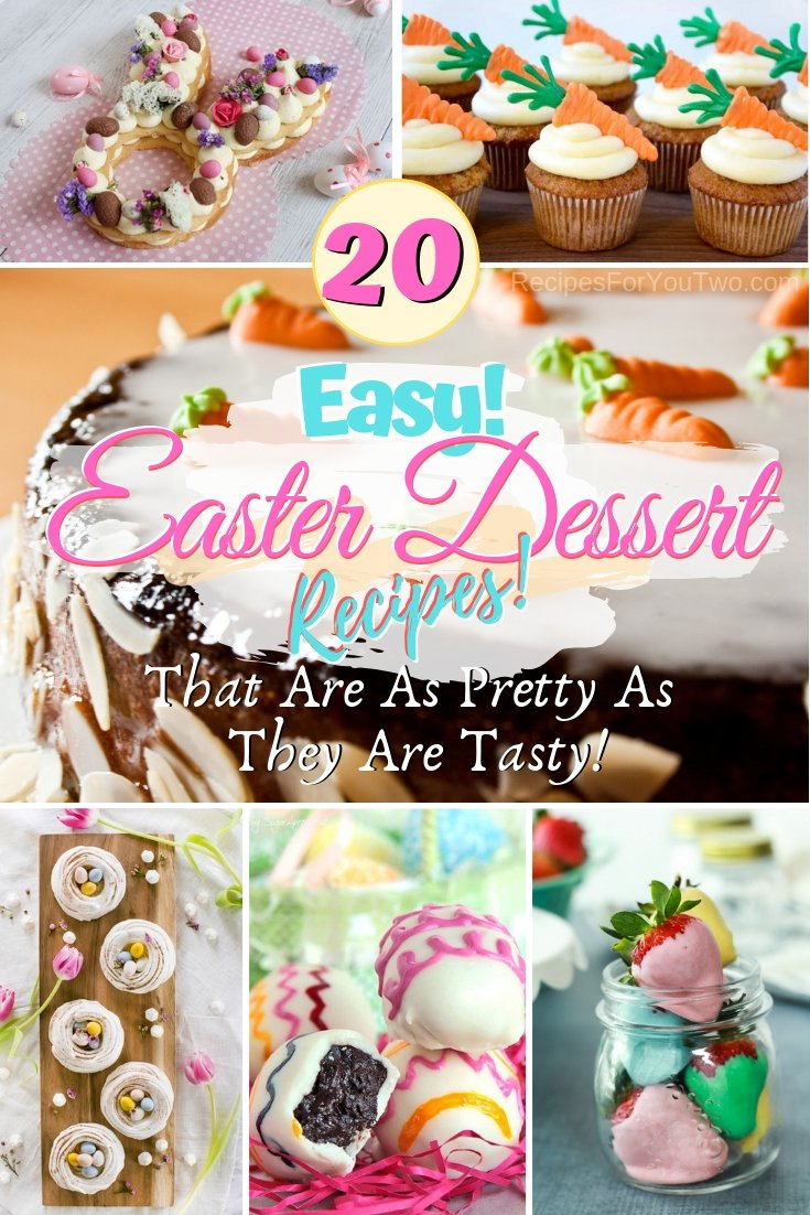 Make the prettiest Easter desserts ever! These are some great ideas and recipes! #easter #dessert #food #recipe
