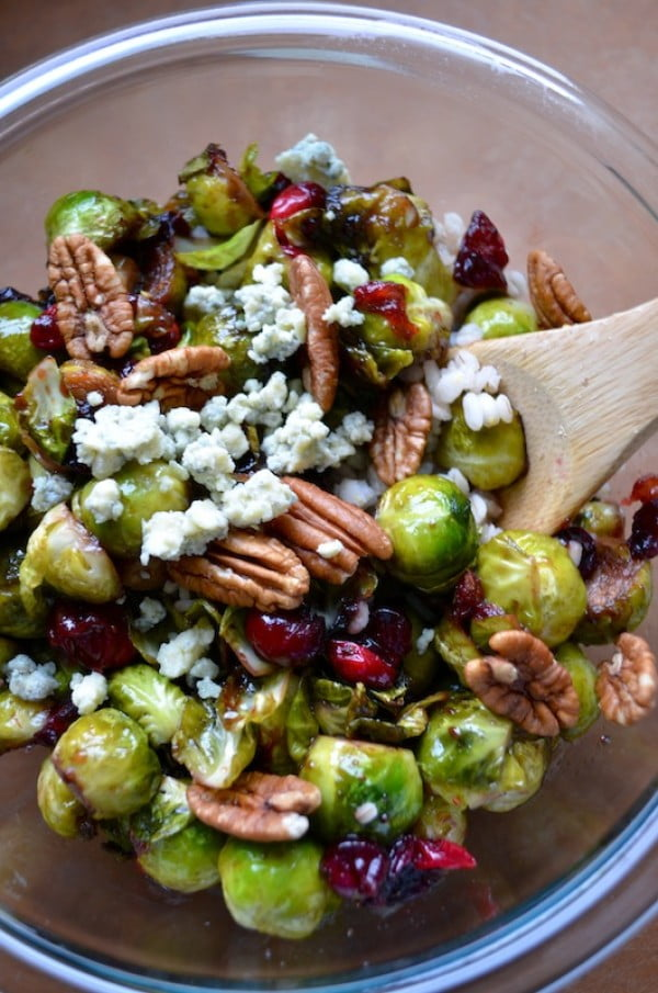 Rachel Schultz: BRUSSELS SPROUTS WITH CRANBERRIES & PECANS #easter #dinner #recipe #food