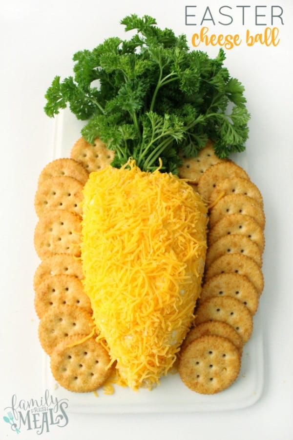 Easter Cheese Ball #easter #dinner #recipe #food