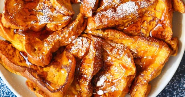 Pumpkin Spice French Toast #breakfast #frenchtoast #recipe