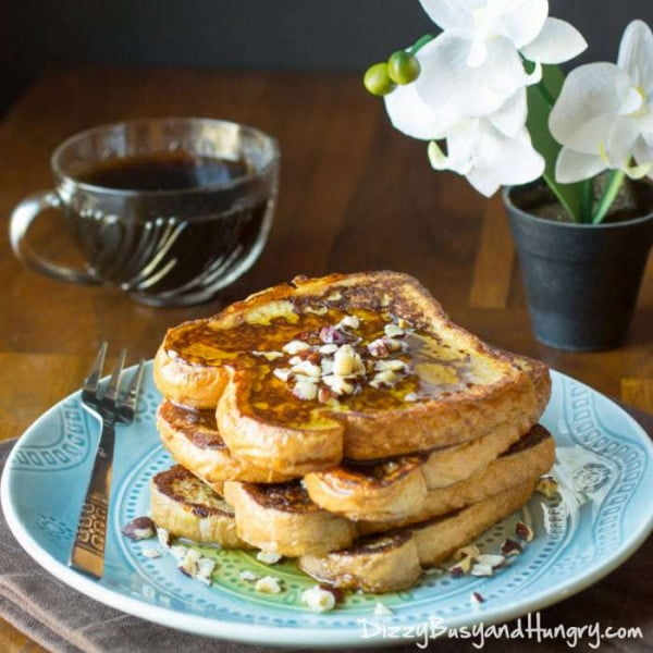 Kahlua and Cream French Toast #breakfast #frenchtoast #recipe