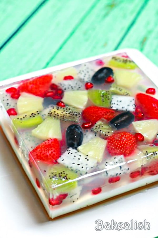 Jelly Fruit Cake #fruit #dessert #food #recipe