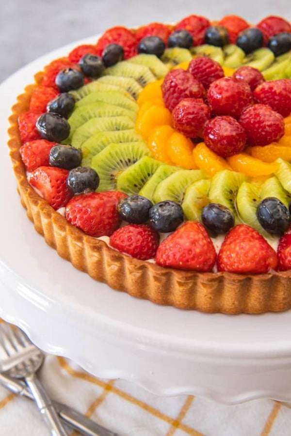 French Fruit Tart #fruit #dessert #food #recipe