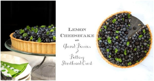 Lemon Cheesecake with Glazed Berries #fruit #dessert #food #recipe