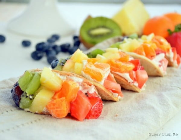 Mini Fruit Tacos #fruit #dessert #food #recipe