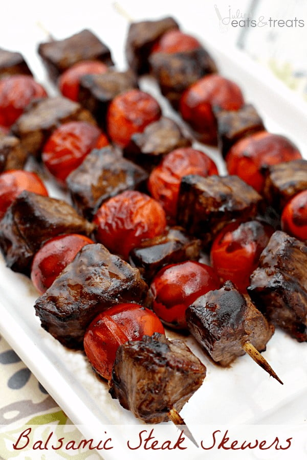 Balsamic Steak Skewers #grill #bbq #skewers #dinner #food #recipe