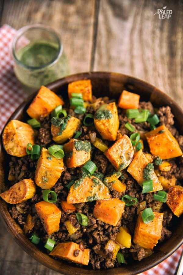 Sweet Potato And Ground Beef Bowl #beef #dinner #recipe