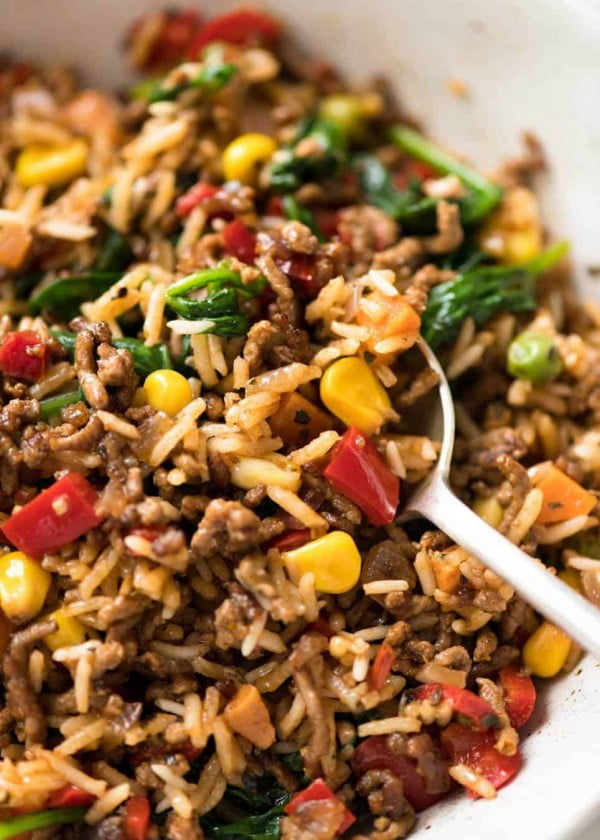 Beef and Rice with Veggies #beef #dinner #recipe