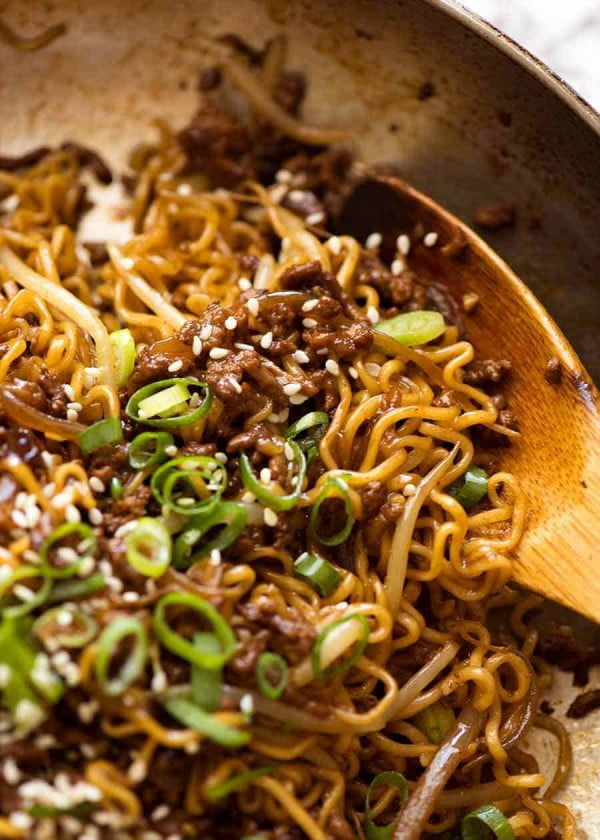 Quick Asian Beef Ramen Noodles #beef #dinner #recipe