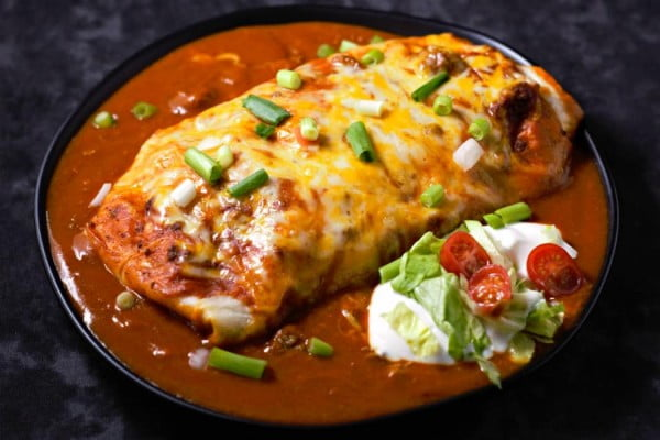 Best Ever Smothered Wet Burritos Recipe #beef #dinner #recipe