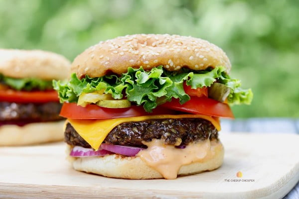 Best Vegan Burger Recipe Ever (Grillable) #burgers #healthy #recipe #lunch #dinner