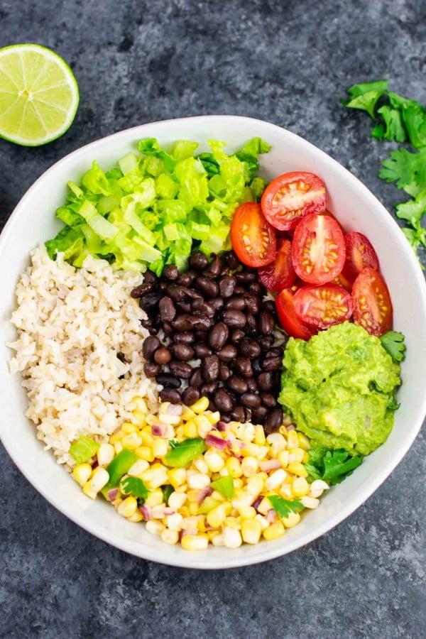 Vegan Burrito Bowl #healthy #mexican #recipe #food #dinner
