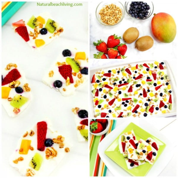 Delicious Easy to Make Fruit Frozen Yogurt Bark Recipe #recipe #food #spring #dinner #healthy