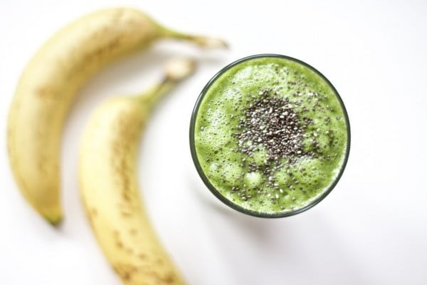 Fat Burning Green Smoothie (Post Workout, Gluten-Free, Vegan, Paleo) #recipe #food #spring #dinner #healthy