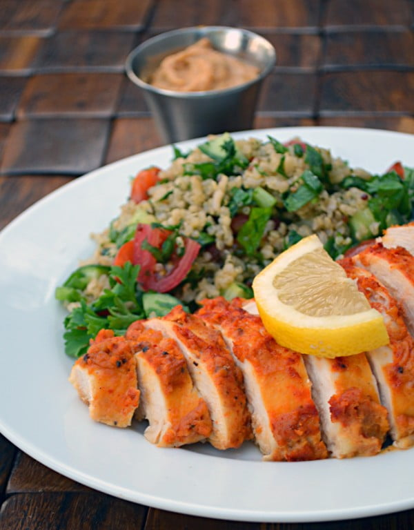 Hummus Crusted Chicken #recipe #food #spring #dinner #healthy