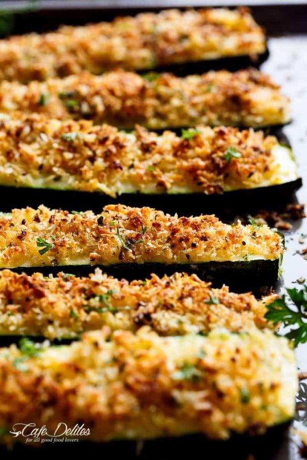 Parmesan Zucchini #zucchini #healthy #recipe #dinner