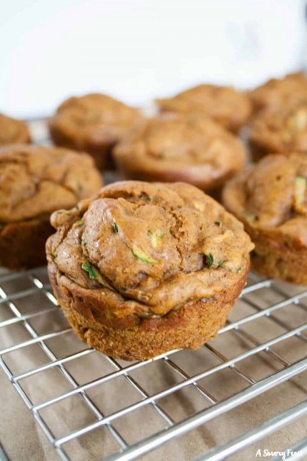 No Sugar Added Pumpkin Zucchini Muffins #zucchini #healthy #recipe #dinner