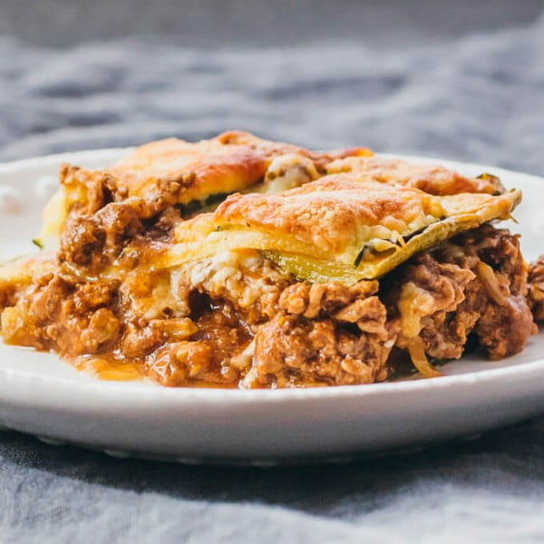Zucchini Lasagna With Ground Beef #keto #healthy #dinner #recipe