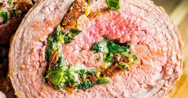 Baked Stuffed Flank Steak #keto #healthy #dinner #recipe