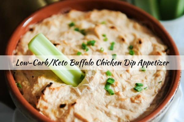 Low Carb & Keto Buffalo Chicken Dip Appetizer Recipe #keto #snack #recipe #food