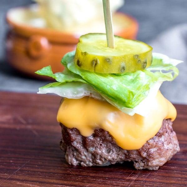 Low Carb Big Mac Bites {Keto} #keto #snack #recipe #food