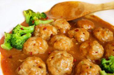General Tso Chicken Meatballs- Regular and Low Carb Version #meatballs #dinner #recipe