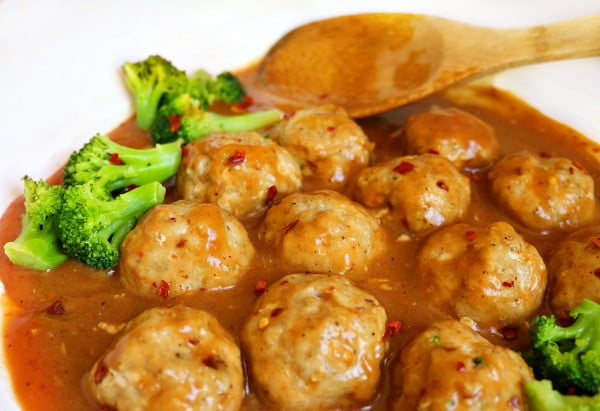 General Tso Chicken Meatballs- Regular and Low Carb Version #meatballs #dinner #recipe