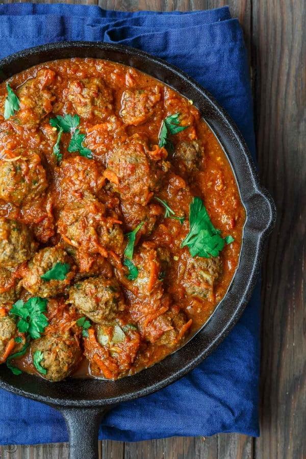 Lebanese-Style Cinnamon Meatballs Recipe (Video) #meatballs #dinner #recipe