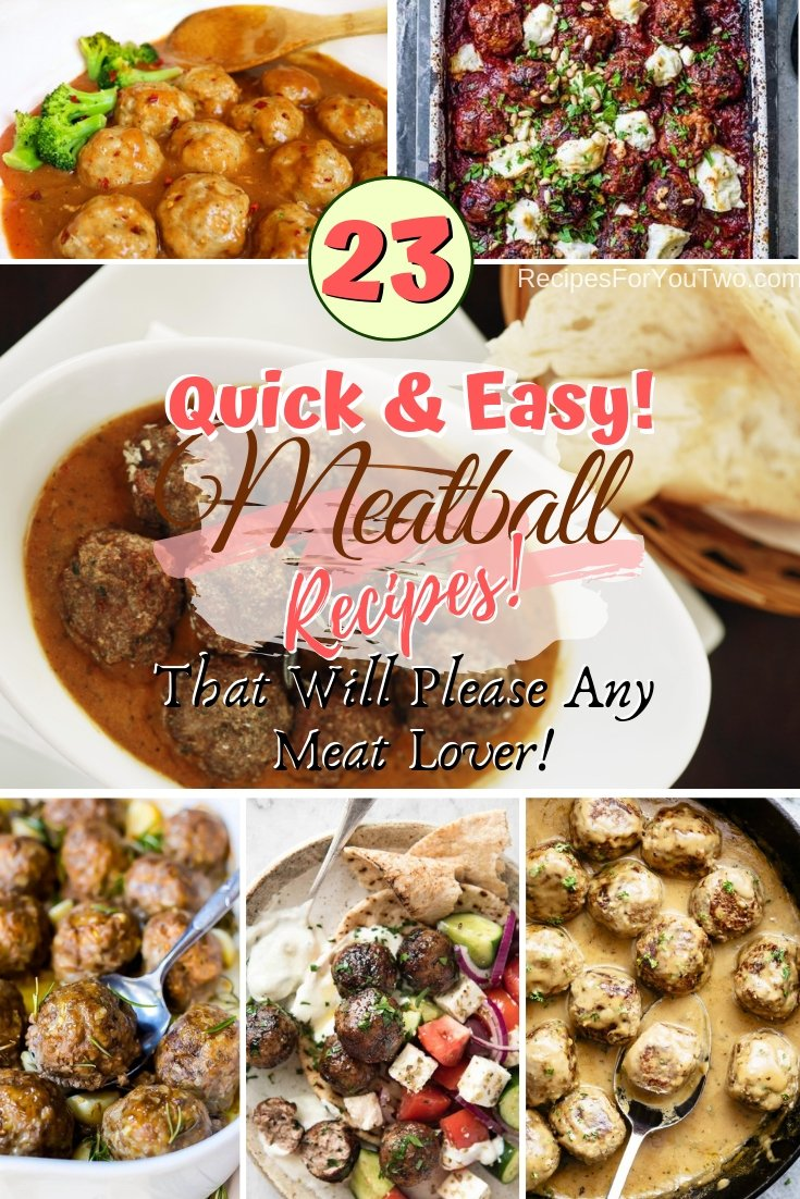 These are the best 23 meatball recipes that will please any meat lover. Must try! #recipe #meatballs #dinner