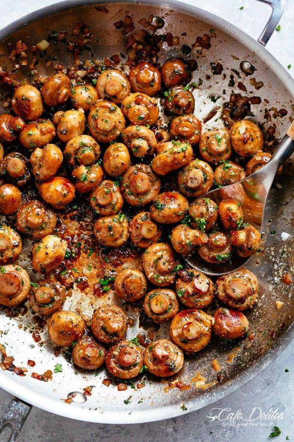 Garlic Mushrooms #mushroom #recipe #dinner #food
