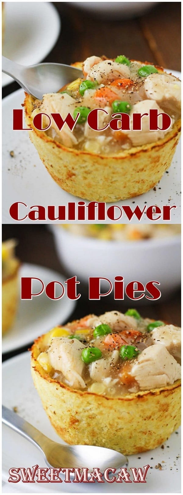 Low Carb Cauliflower Pot Pies #potpie #dinner #recipe #food