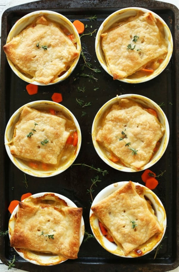 Thyme & White Bean Pot Pies #potpie #dinner #recipe #food