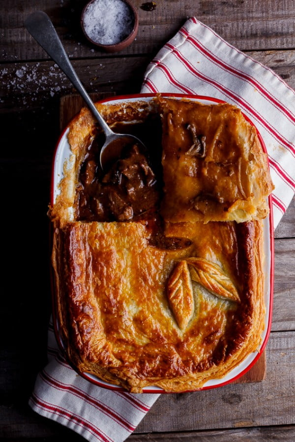 Steak and mushroom pot pie #potpie #dinner #recipe #food