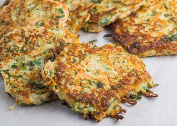 Zucchini and Sweet Potato Fritters #recipe #potato #dinner
