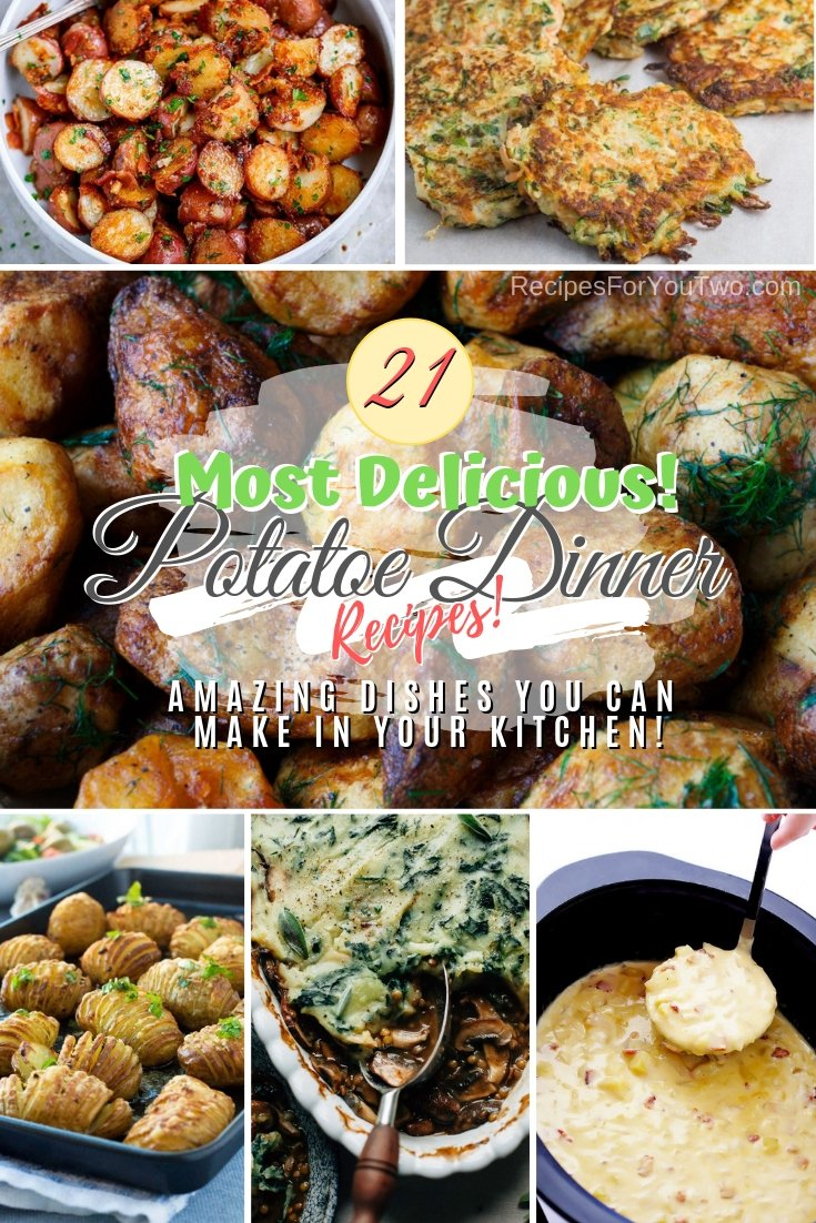 Make these great dinner dishes from potatoes. Some great choice on this list! #recipe #potato #dinner