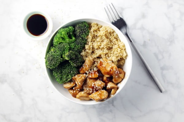 Chicken Teriyaki Quinoa Bowl #quinoa #healthy #dinner #recipe